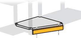 Sockel till växelhyllor (vänster och höger)