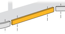 Sockel till standardhyllplan